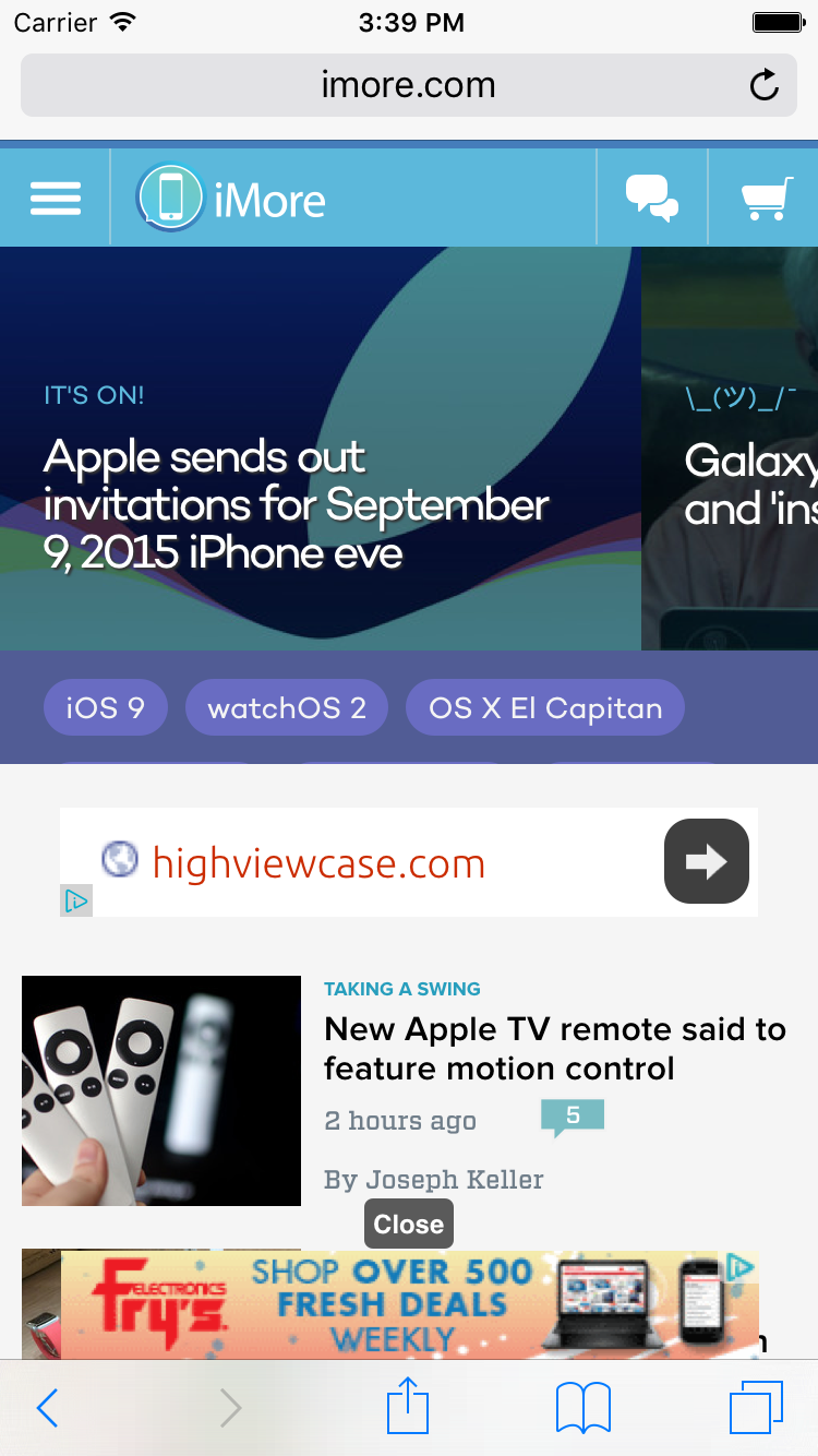 Previewing Refine for iOS 9: built-in Adblock/Privacy, customize and